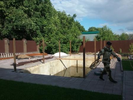 Фото - навес над бассейном 3